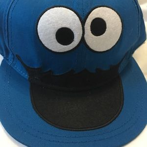 565107e904a08 Accessories - 💋5 25 -Cookie Monster Flat Bill Hat